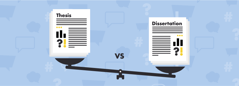 Dissertation versus thesis uk